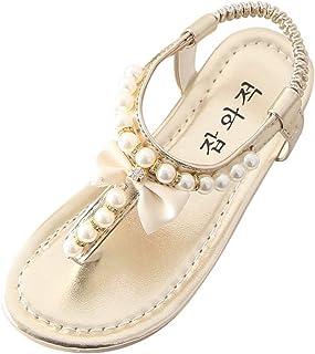 AIni Baby Schuhe, 2019 Neuer Modus Beiläufiges Sommer Kleinkind Kind Scherzt Baby Bowknot Perlen Prinzessin Tanga Sandalen Schuhe Lauflernschuhe