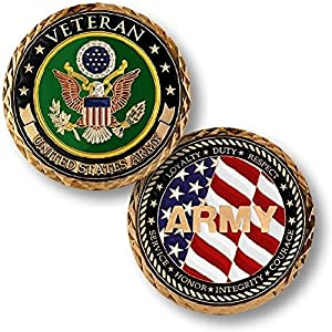 U.S. Army Veteran Challenge Coin from Armed Forces Depot