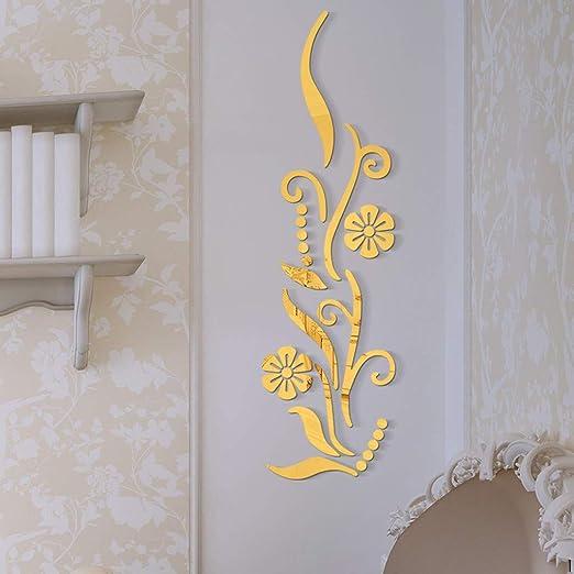 YWLINK Flor BañO AcríLico Espejo Decorativo Etiqueta Arte De La ...