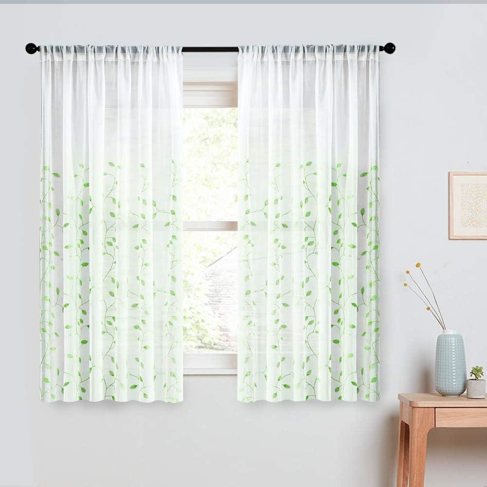 Amazon Com Mrtrees Sheer Tier Curtains Living Room Bedroom Short