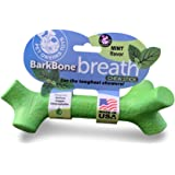 Pet Qwerks BarkBone Mint Flavor Dental Breath Stick Dog Chew Toy - Durable Dog Bones for Aggressive Chewers, Tough Power Chew Toys | Made in USA with FDA Compliant Nylon for Large Breed Dogs