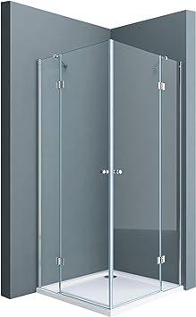 Sogood Cabina de ducha esquinera Rav01K 80x80x190cm ducha de vidrio transparente con plato de ducha plano de 4 cm |vidrio templado de seguridad blanco: Amazon.es: Bricolaje y herramientas