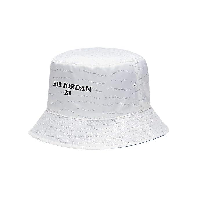 af4ab5789146 Jordan Men`s AJ 10 Accolades Reversible Bucket Hat (White(AA1305-100) Hyper  Royal Black