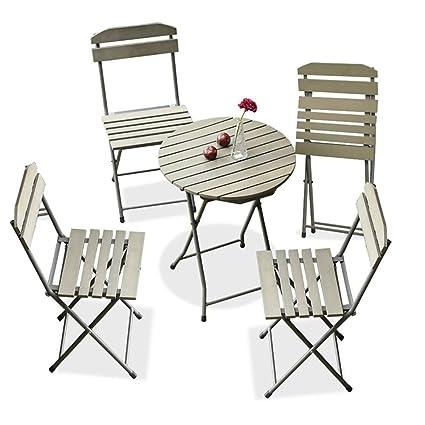 CSQ Balcón Mesa y silla Combinación Jardín Patio Hierro ...