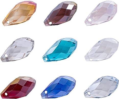 oval shaped stud earrings tear drop earrings plastic beads Earrings tear drop shaped crackle beads