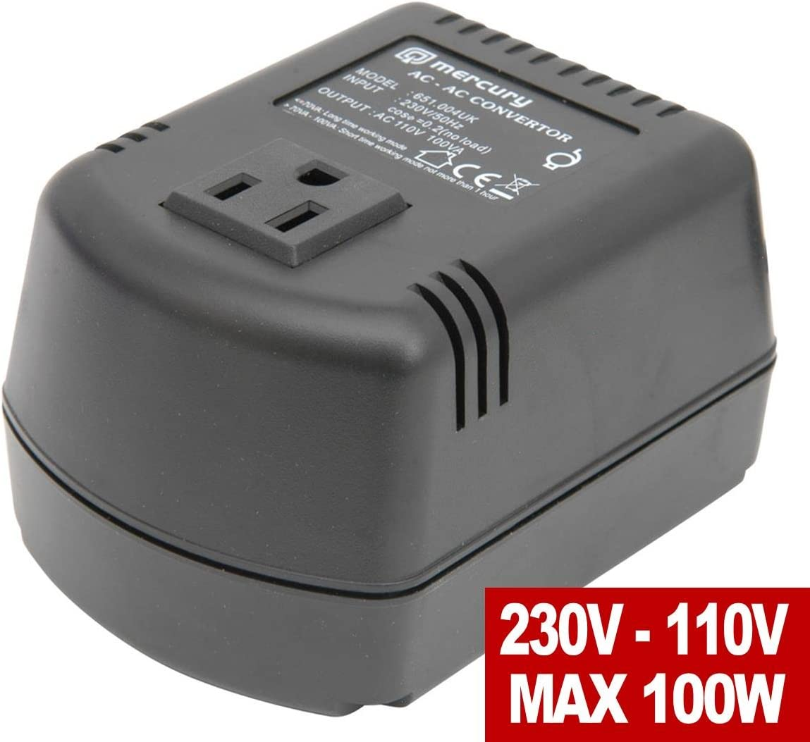 230-110V Step-Down Voltage Converter 100W Desktop