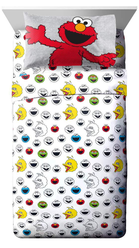 Jay Franco Sesame Street Hip Elmo 4 Piece Twin Bed Set - Includes Reversible Comforter & Sheet Set - Super Soft Fade Resistant Polyester - (Official Product) by Jay Franco (Image #2)