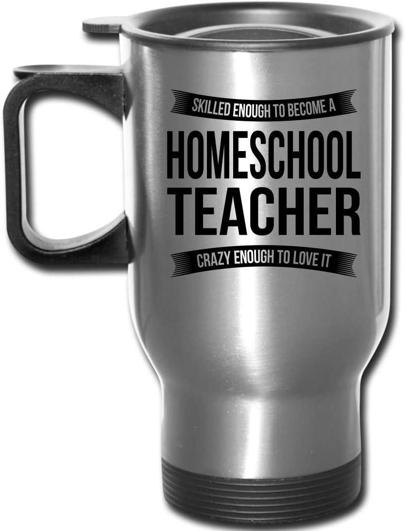 Homeschool Teacher Travel Mug Gifts - Funny Appreciation Thank You For Men Women New Job 14 oz Mug Silver