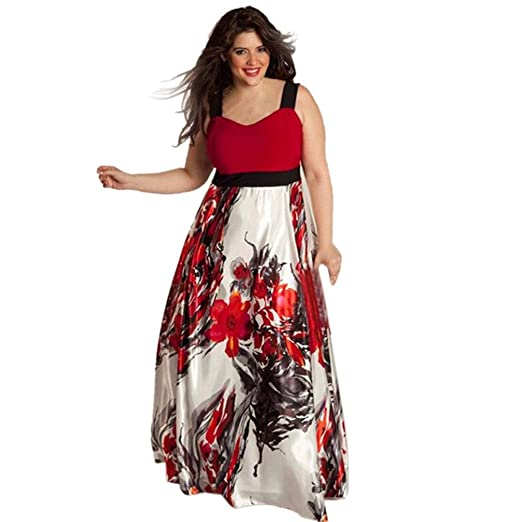6bba4c8a2842 Amazon.com: Boomboom Plus Size Women Floral Long Party Prom Gown Dresses  Size L -5XL: Clothing