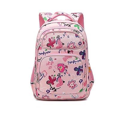 cb611c9236b6 Amazon.com  CJH Cute Primary School Children s School Bag Girls 1-3-6 Grade  Children s Backpack 6-12 Years Old Schoolgirl Bag Pink  Sports   Outdoors