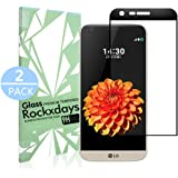 [2 Pack] LG G5 Screen Protector, Rockxdays [Easy Installation] 3D Full Coverage Ultra Clear Film Edge Tempered Glass Screen Protector for LG G5 black