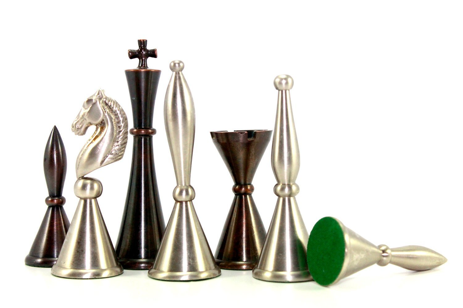 StonKraft 4'' King Height - Collector Edition Copper Chess Pieces Pawn Chessmen Figure Figurine Pieces Coins - Appropriate Wooden & Stone Chess Boards available separately by StonKraft Brand