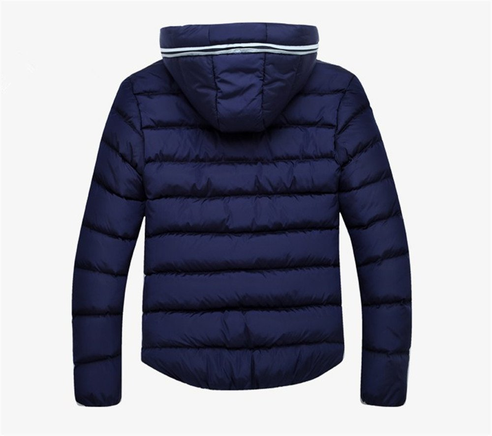 Men's Outerwear Jackets & Coats Boy's Cotton Padded Zip Quilted Light Hooded Sportswear by H.Tavel (Image #4)