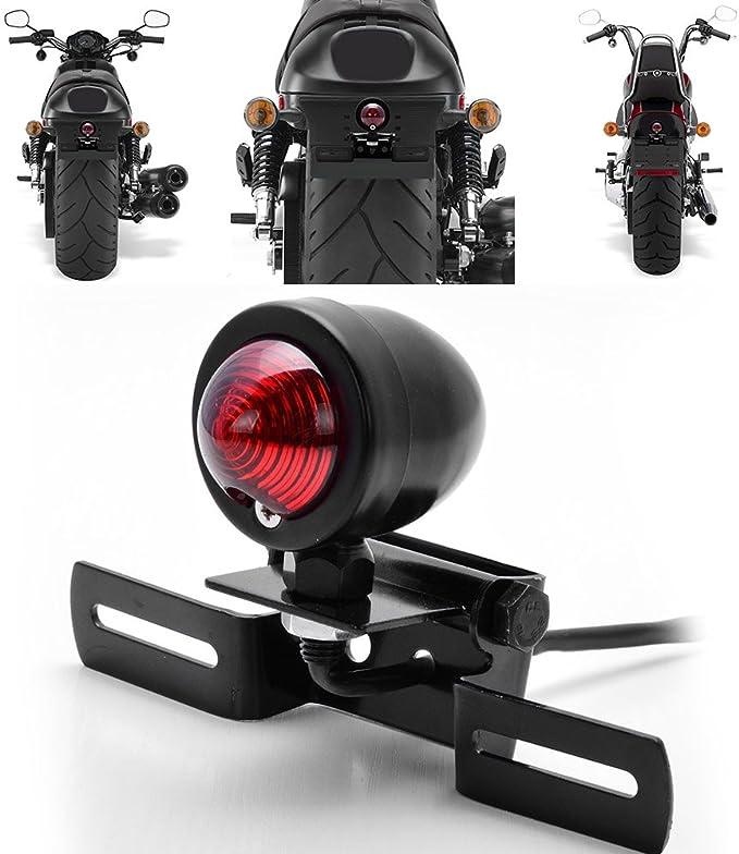 License Plate Holder Bracket Relocator Motorcycle For Harley Bobber Chopper Cruiser Dyna Glide Sportster Custom Tail Brake Stop Running Light