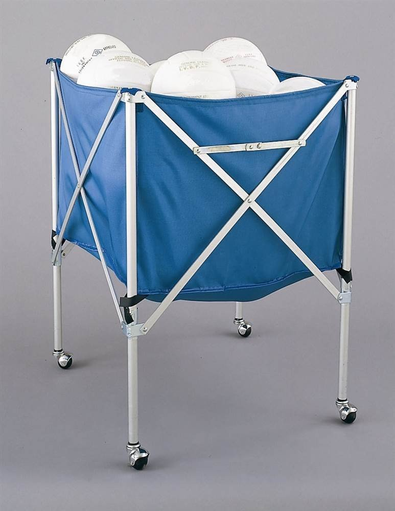 Folding Volleyball Cart in Blue & White