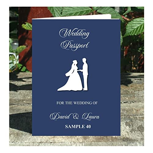 Wedding Passport 8 Page Style Invitations Any Colour Any