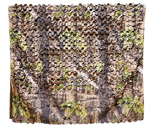 Auscamotek Turkey Blind Material Camo Netting Camouflage Net for Ground Portable Blinds Tree Stand Hunting Chair Umbrella Green 5x13 Feet Camo Hunting Leaf Blind Material