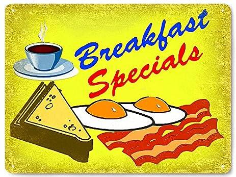 Amazon.com: Restaurant breakfast metal sign wall decor / diner ...