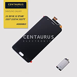Replacement for Samsung Galaxy J3 2018 J337 / J3 Achieve J337P / Eclipse 2 / J3 Star J337T J3 Orbit S367VL S357BL J3 Aura J337A J337AZ J337U J337V Sol 3 J336 LCD Display Touch Screen Digitizer (Black)
