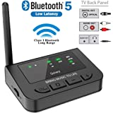 Golvery Long Range Bluetooth 5.0 Transmitter Receiver for TV with Audio Pass-Thru Feature, Plug & Play, Supports AptX…