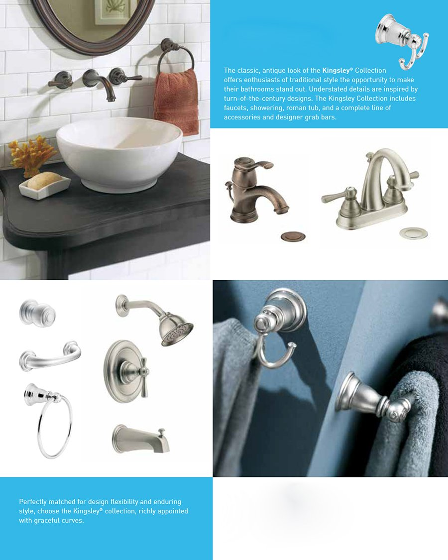 Moen T3112 Kingsley Moentrol Shower Trim Kit without Valve, Chrome ...