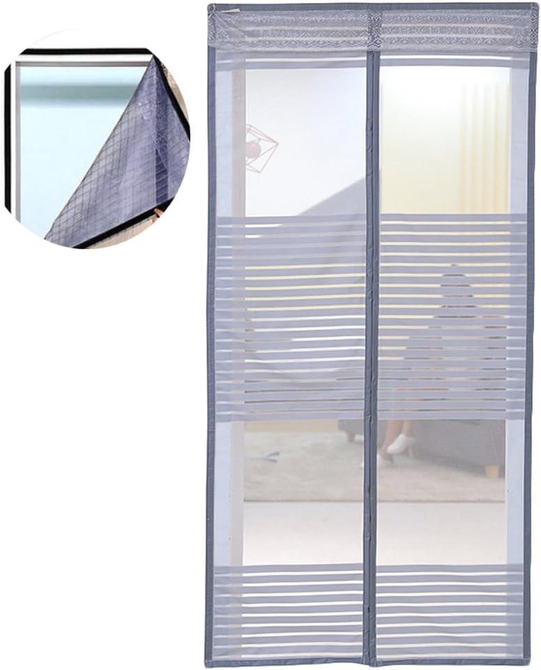 Icegrey Mosquitera Magnética Para Puertas Cortina Para Puerta Para Protección Contra Insectos, Mosquitos, Moscas Mosquitera Para Ventanas Cinta Cinta adhesiva Versión Gris 90x210cm