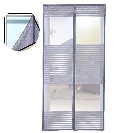 Liveinu Magnet Fliegengitter Tür Insektenschutz mit Klettband Fassung Moskitonetz Fliegenvorhang für Balkontür Wohnzimmer Sch