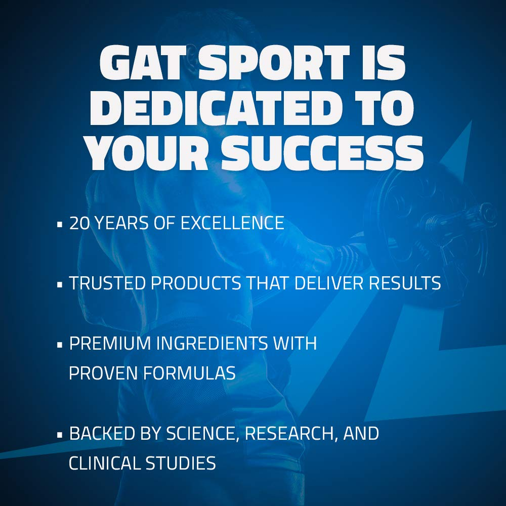 GAT - NITRAFLEX - Testosterone Boosting Powder, Increases Blood Flow, Boosts Strength and Energy, Improves Exercise Performance, Creatine-Free (Blue Raspberry, 30 Servings) by GAT Sport (Image #8)