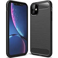 Capa Anti Impacto para iPhone 11 (Tela 6.1), Carbon Fiber, TPU Ultra Slim, Cushion Design Shell, Apple iPhone 11 (Tela 6.1) - Preto