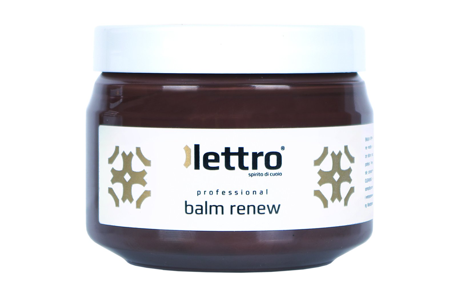 Lettro Balm Renew, quality leather restore and color revive for furniture car seats shoes upholstery saddlery, 200ml (brown)