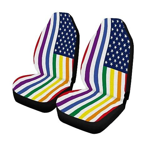 Gay pride car seat covers