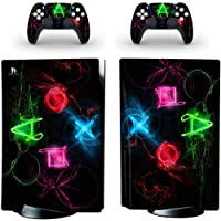 Dreamteam PS5 Skin Disc Edition Skin Sticker Decal Cover for PS5 PlayStation 5 Console and 2 Controllers PS5 Skin…