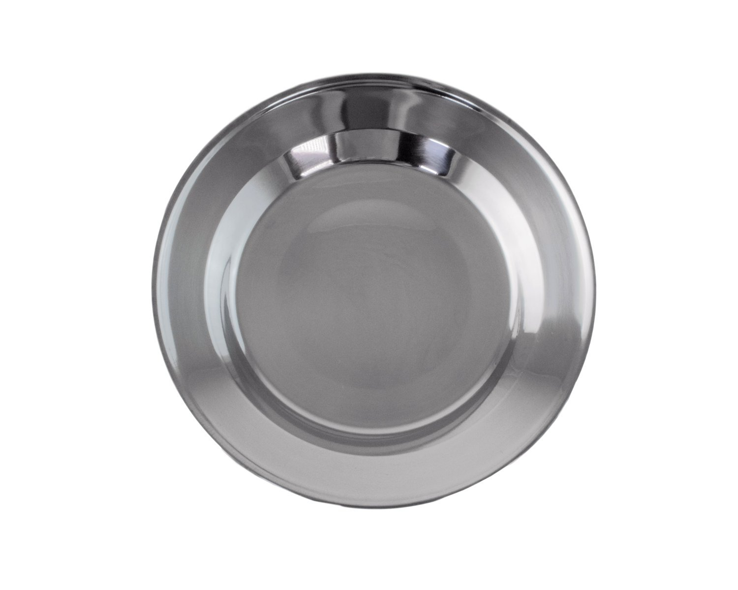 welltree Stainless Steel Plate/Dish Set - Best for Backpacker or Camping, Ideal for Toddlers and Kids