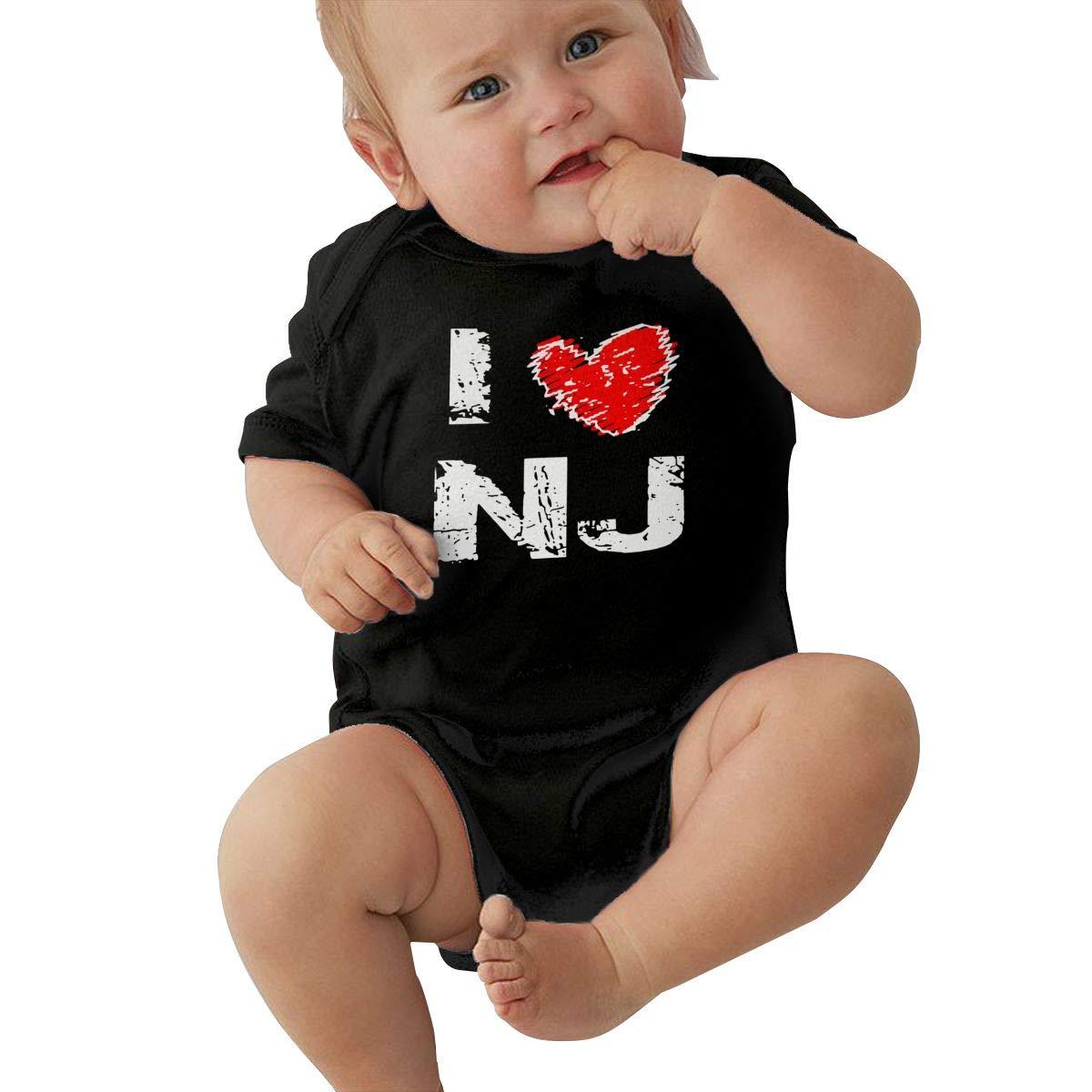 Newborn Baby Girl Boy I Love NJ New Jersey RomperRomper Jumpsuit Short Sleeve Bodysuit Tops Clothes