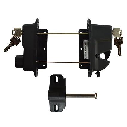 Amazon com: Keystone Black Nylon Polymer Key-Lockable Latch   2