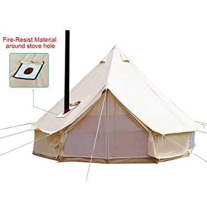 Playdo 4-Season Waterproof Cotton Canvas Large Family C& Bell Tent Hunting Wall Tent with  sc 1 st  Amazon.com : 4 season wall tent - memphite.com