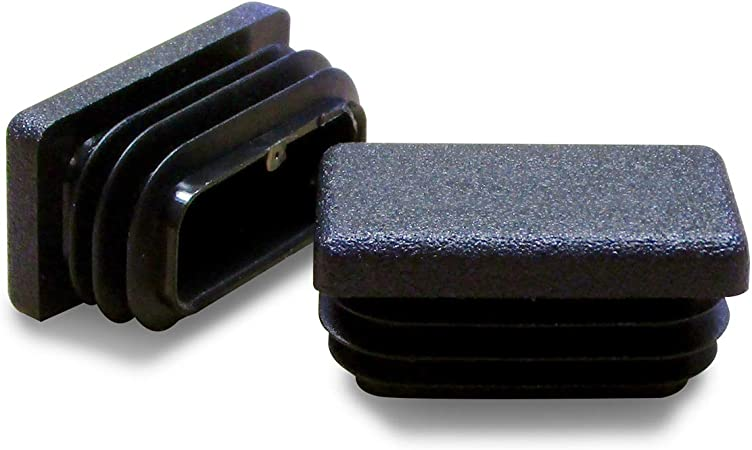 4 pi/èces BLANC Embout /à lamelles rectangulaire pour tubes 35 x 20 mm EPG235-M ajile