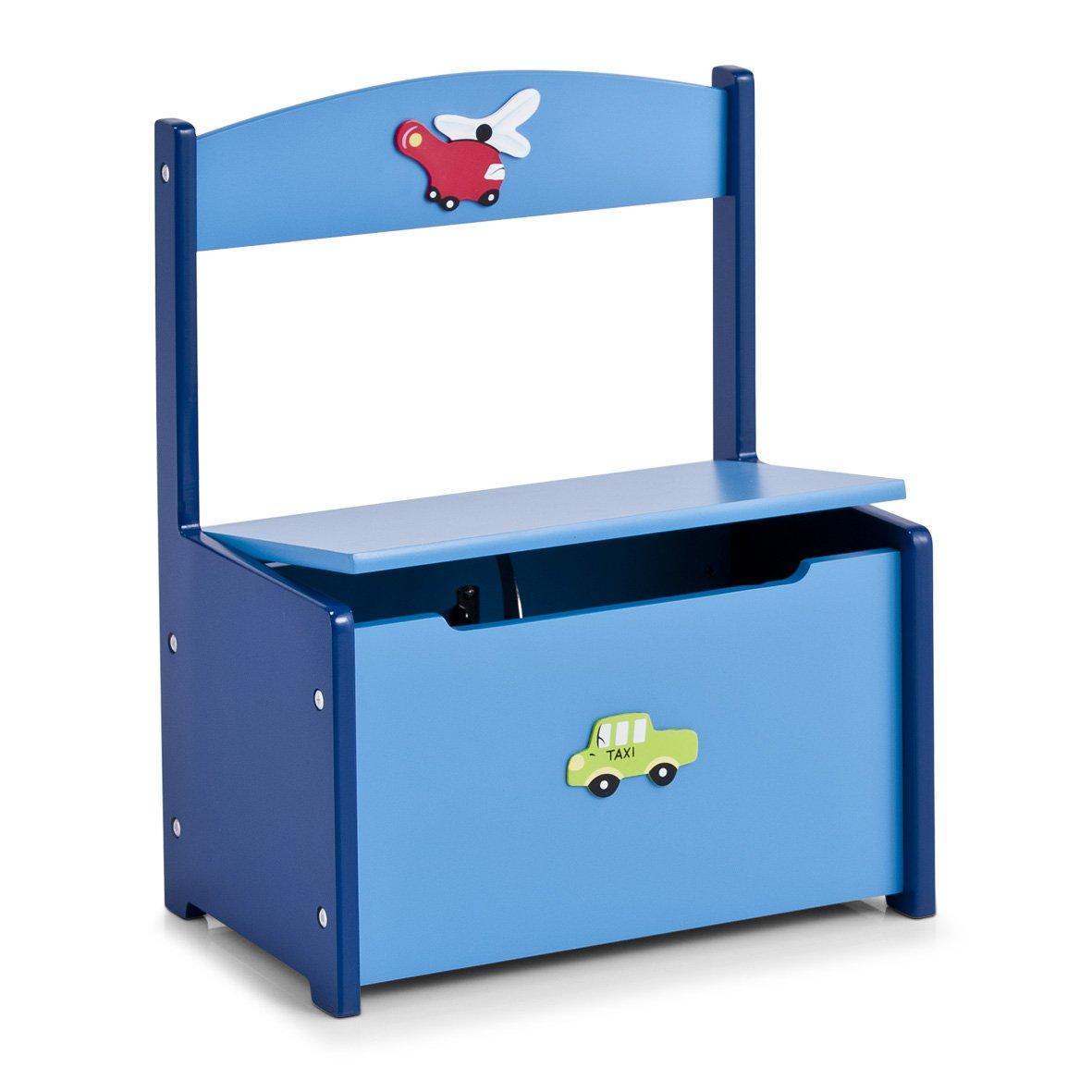 Zeller 13474 Banc-coffret À jouets pour enfant Boys - 41 x 26 x 51 cm