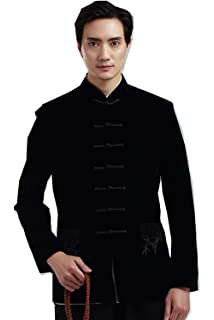 Shanghai Story Men s Chinese Tang Suit Velvet Kung Fu Jacket Coat Black 66b956c5d