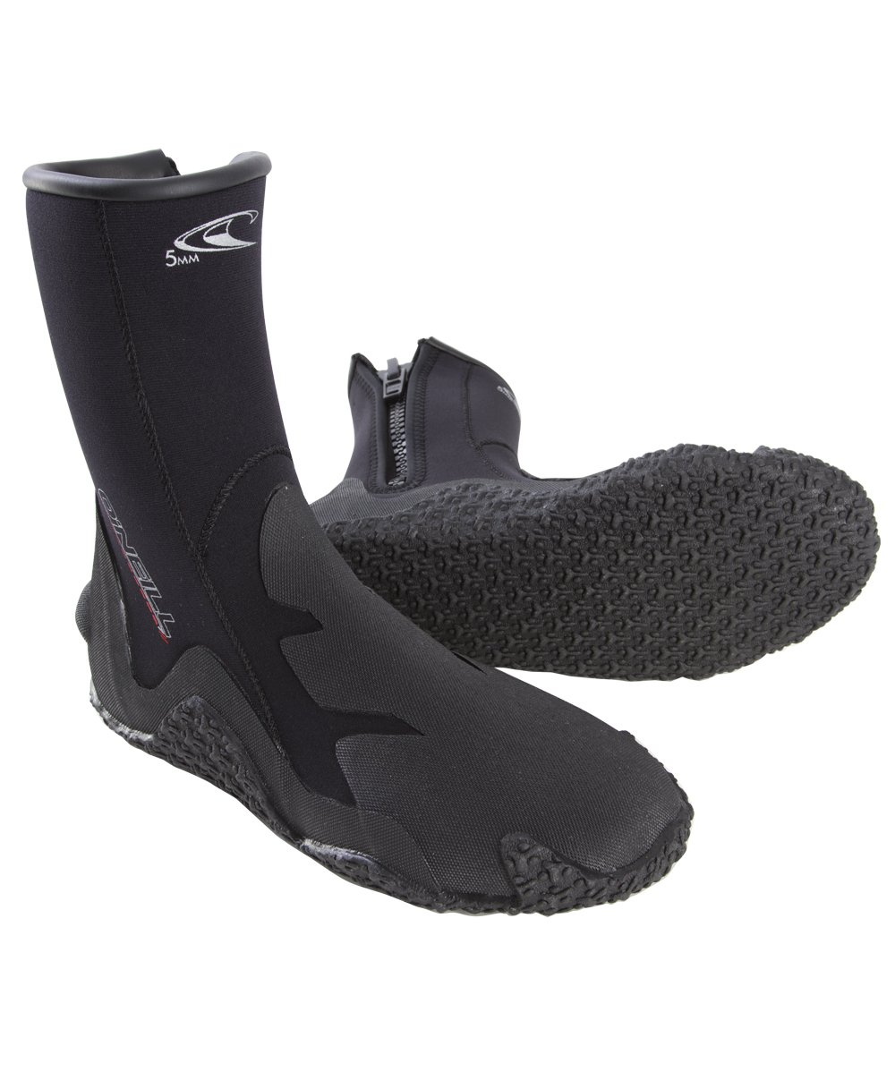 O'Neill Wetsuits Men's Dive 5mm Booties with Zipper