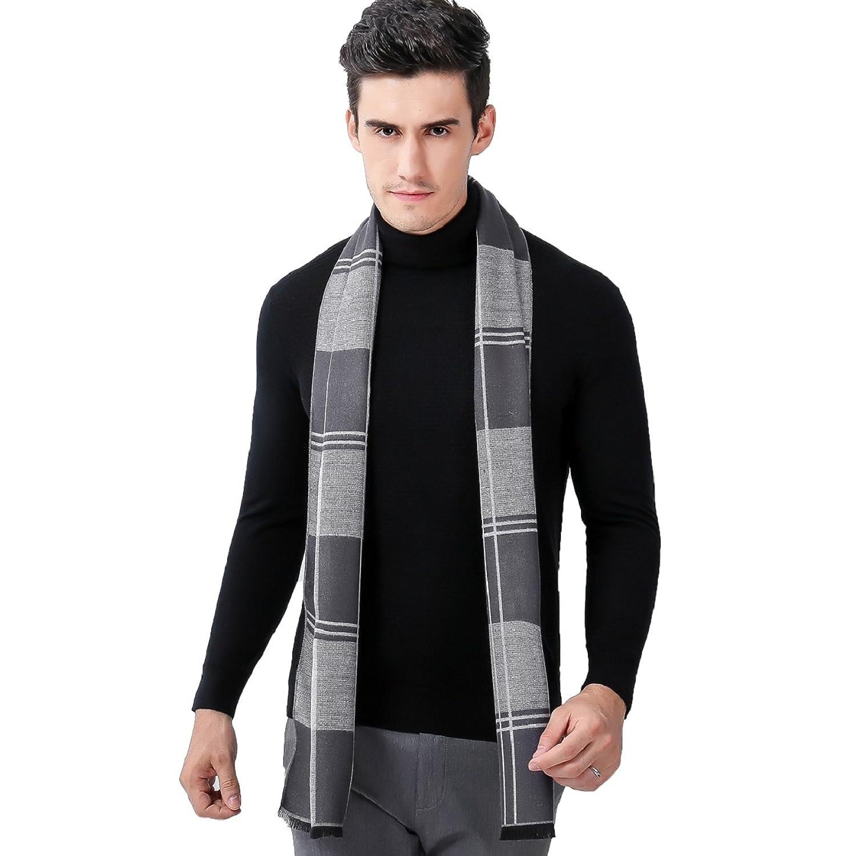 Tuopuda® Bufanda de Cachemir Caliente Espesado Suave Para Hombre Unisex Diseño Clásico Elegante Para Otoño Invierno Negocio Ocio N2MJN