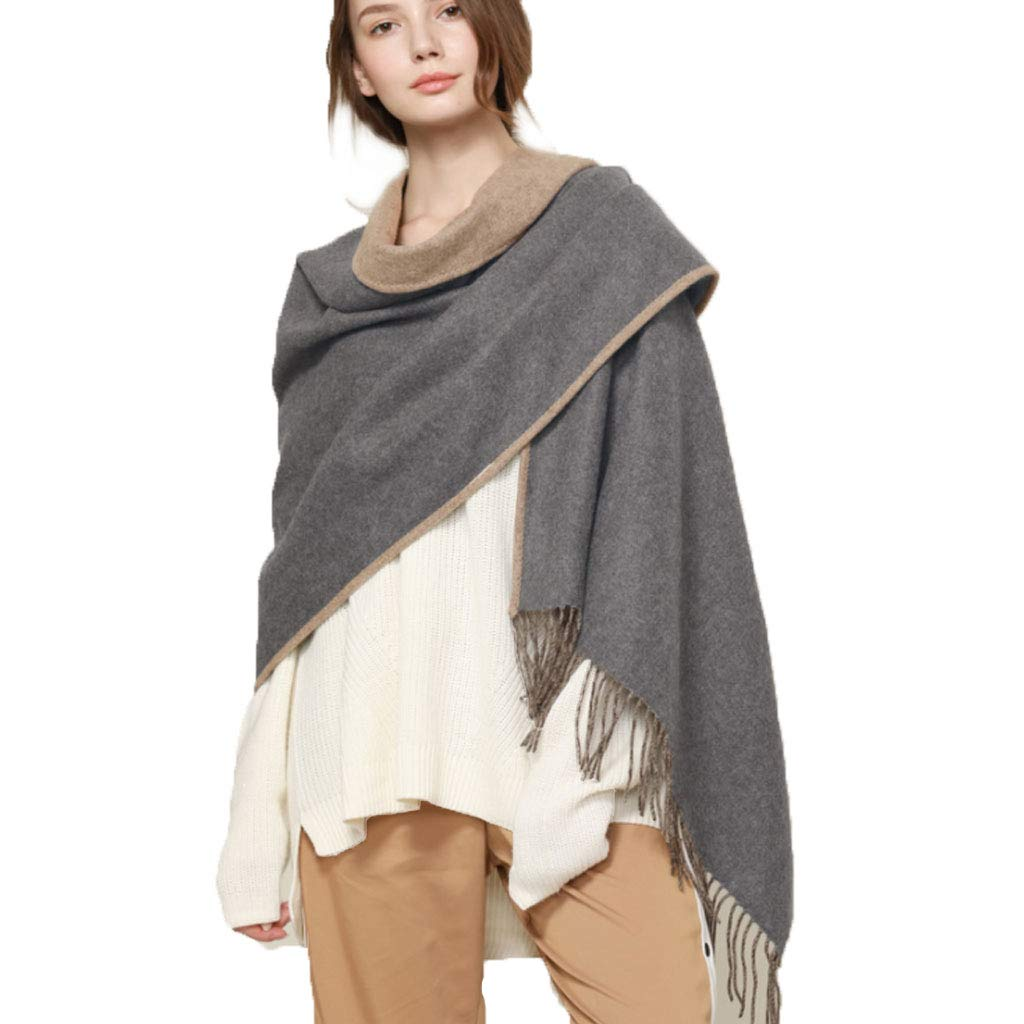 Shawl Woman,DoubleSided Lamb Cashmere Keep Warm,B