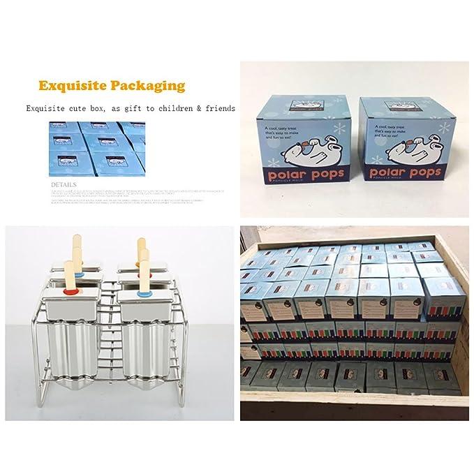 Compra Baffect® Molde de acero inoxidable de paleta con el molde Stickholder helado juego de 6 (triángulo) en Amazon.es