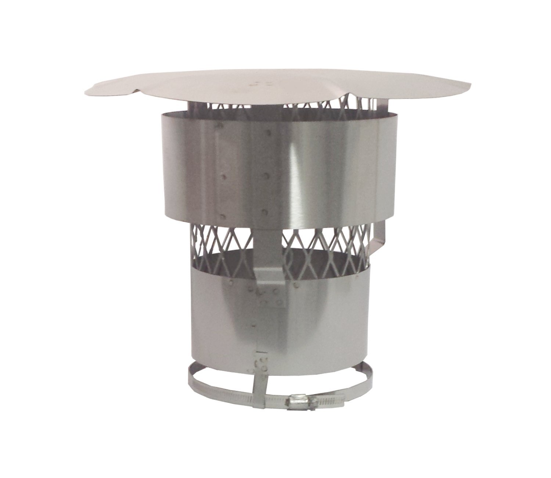 Rockford Chimney Supply Stainless Steel Chimney Rain Cap RockFlex, Round 8 Inch