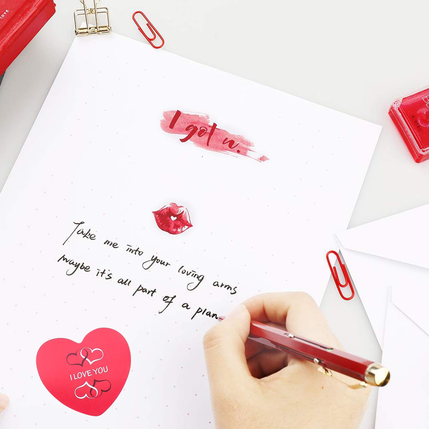 Konsait 720PCS Valentine/'s Day Heart Sticker Rolls Love Decorative Sticker for Kids Envelopes gift Cards Craft Scrapbooking Bags Envelope Seals Great Party Favors Gift Prize Class Rewards Award Praise