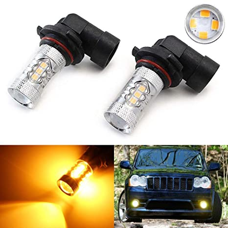 Amazon IJDMTOY 2 Selective Yellow 3000K 80W CREE High Power 9006 HB4 LED Replacement Bulbs For Fog Lights Driving Automotive