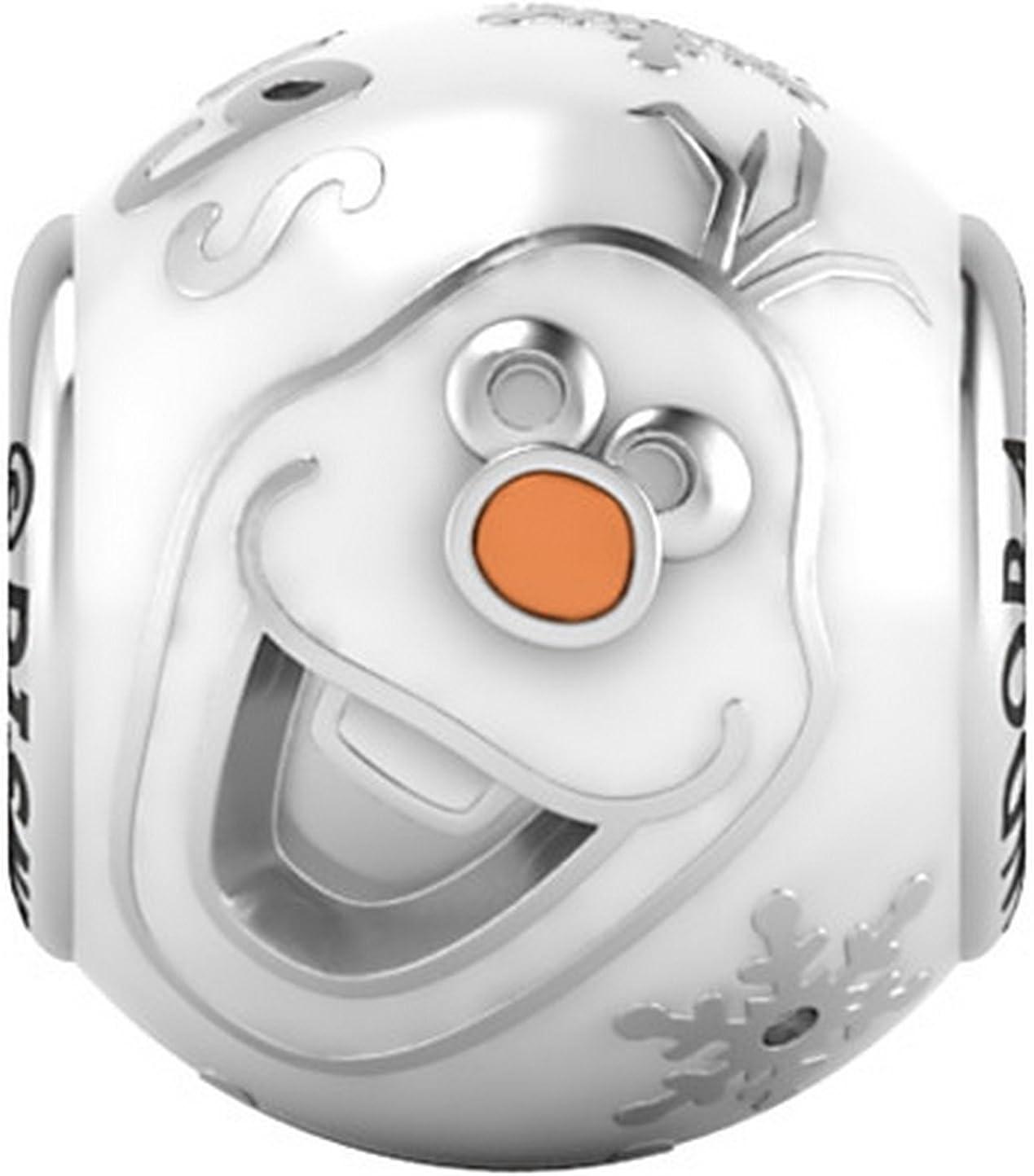 Pandora Disney Olaf Quot;I Like Warm Hugs en émail Blanc Perle ...