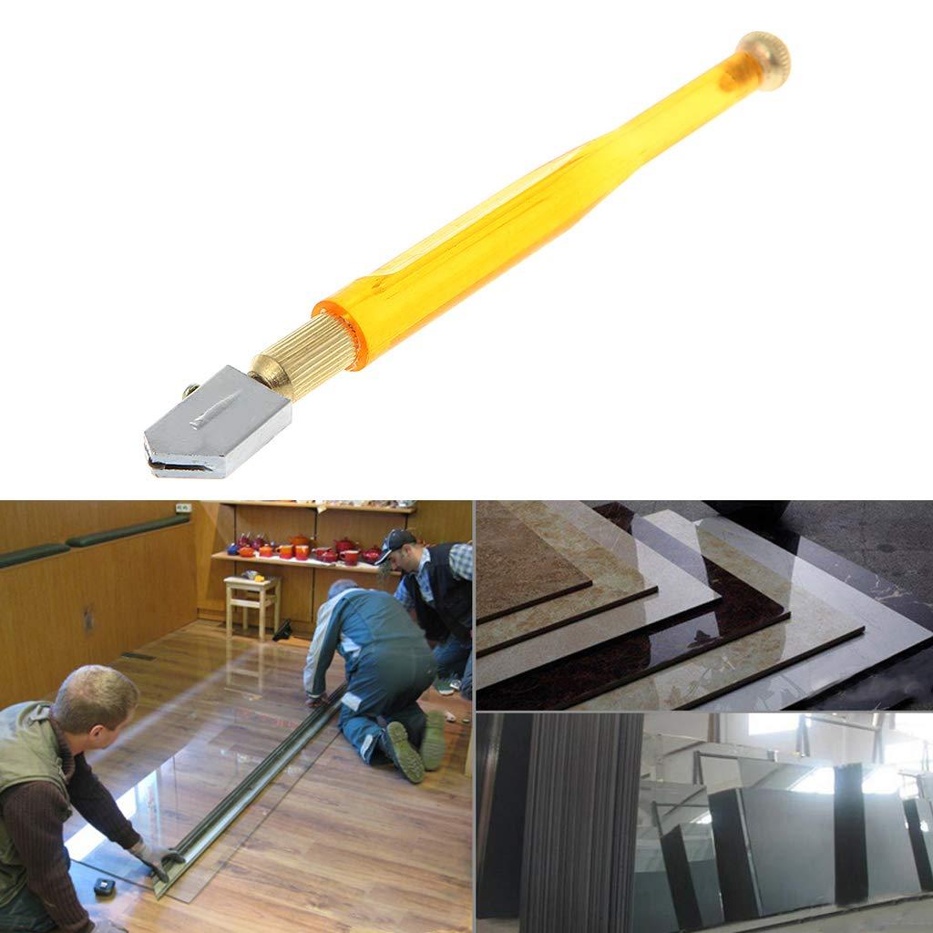Besttse 1 pieza port/átil antideslizante herramienta de corte de carburo rueda cuchilla de vidrio azulejo cortador punta de diamante