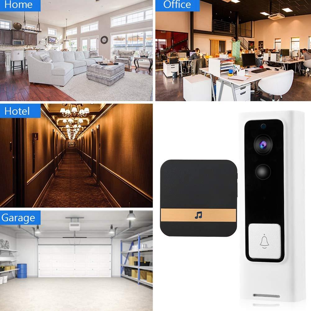 01 Woyisisi 720P HD Wireless WiFi Doorbell Security Smart Video Doorbell IR-Cut Intercom