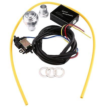 Válvula de Descarga Turbo Diesel Eléctrica del Coche Válvula del Descargar Simulador de Sonido del Kit BOV: Amazon.es: Coche y moto